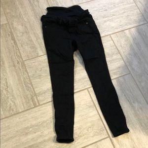 Old Navy Rockstar skinny black maternity jeans
